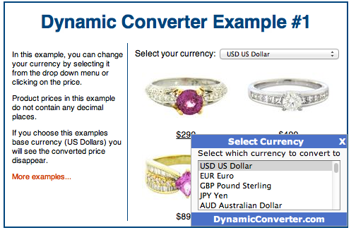 Currency Conversion Example
