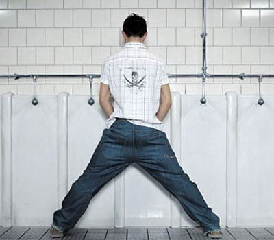 Wide Urinal Stance