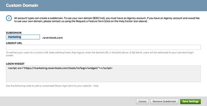 Custom Domain and Login