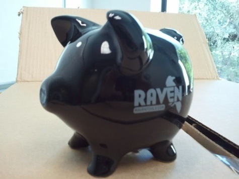 Raven Piggy Bank for ThinkTank