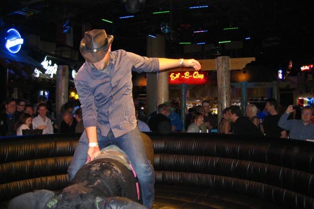 Taylor Pratt Rides The Bull