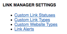 link manager settings