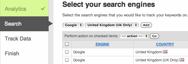 Choose Search Engines