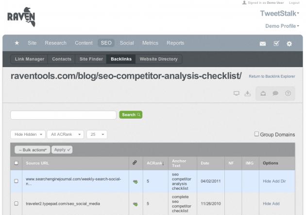 Backlink Analyzer Tool