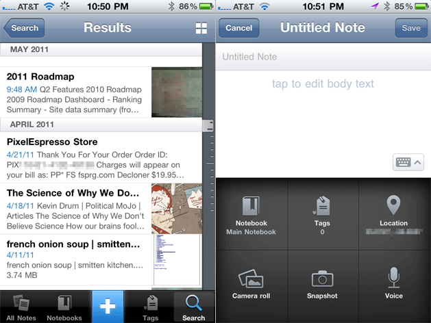 Evernote for iOS iPhone