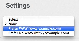 Webmaster Tool Settings