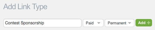Adding custom paid link type