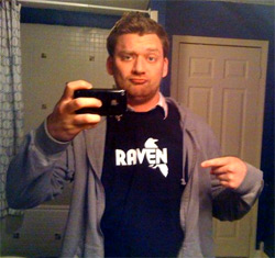 My first Raven shirt