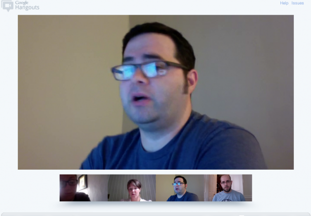 Ravens hanging out on Google Hangout