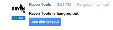 This is how Hangouts appear live in the Google+ feed