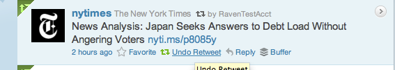 screenshot: a branded URL, retweeted