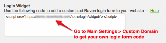 Raven Custom Login Widget Code