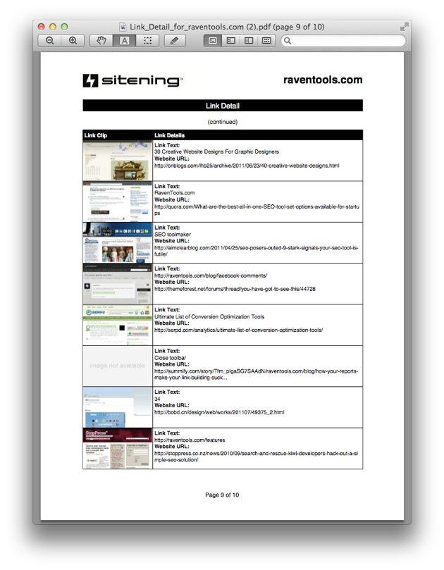 Link Clip PDF Report