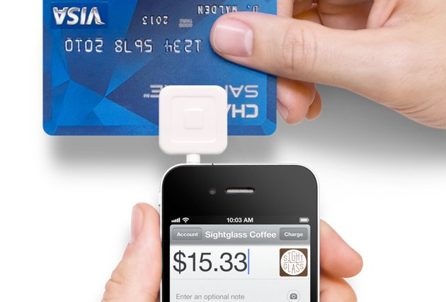 Swiping credit card with Square Card Reader