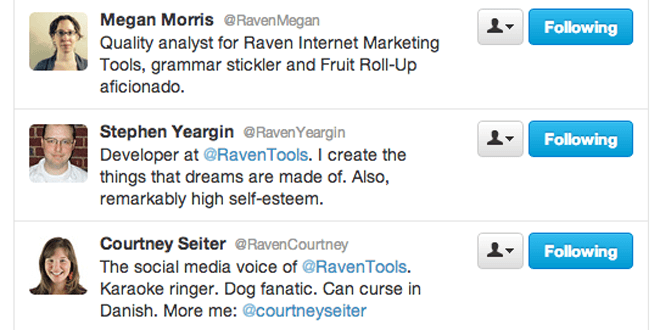 Why Raven employees have Raven in their Twitter handles