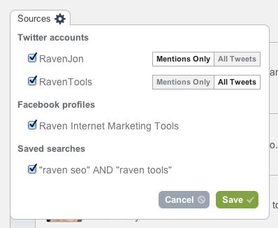 Social Stream sources
