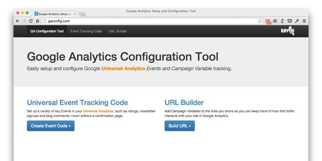Introducing Raven's free Google Analytics Configuration Tool