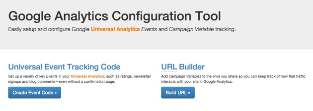 Google Analytics Configuration Tool