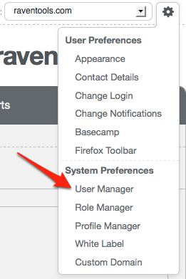 Raven User Manager