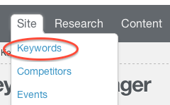 site keywords