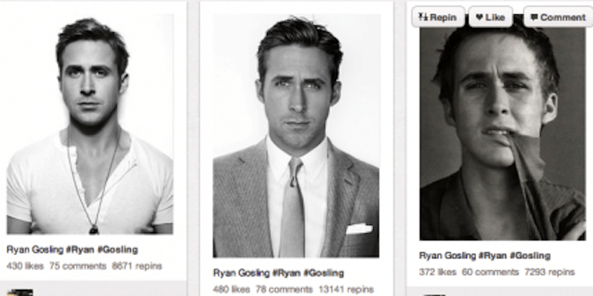 Ryan Gosling - Pinterest users