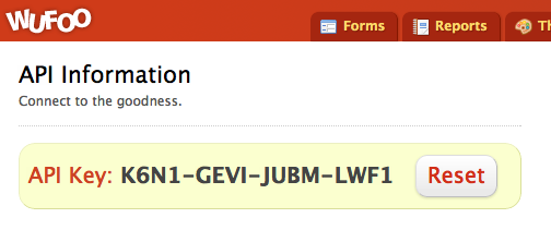 Wufoo API