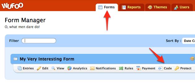 Wufoo Form Page