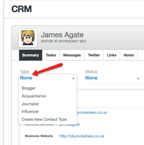 CRM-contact-type