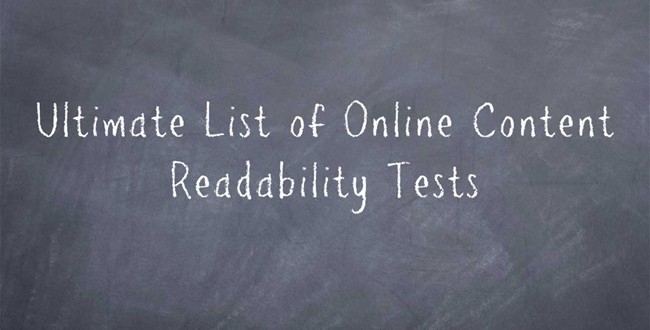 Ultimate list of online content readability tests