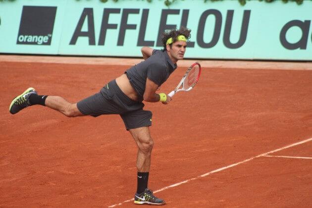 tennis champion Roger Federer