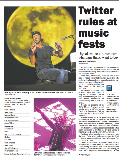 Tennessean-Bonnaroo-article
