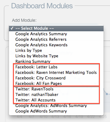 now you can add multiple social dashboard modules