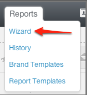 Report Wizard navigation