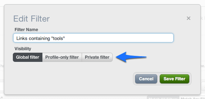 Feature update: Faster, easier link filtering and new tool tips