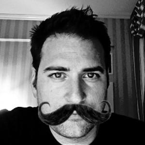 Jon with mustache