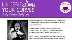About Curves Blogathon Campaign website