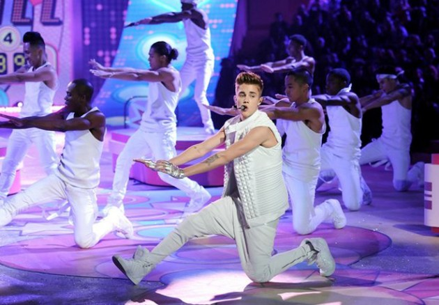 Justin Bieber at Victoria's Secret Fashion Show 2012