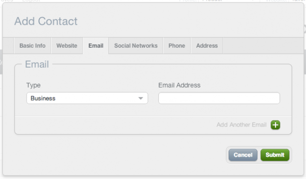 Edit contacts in CRM