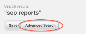 SEO Reports Advanced Search