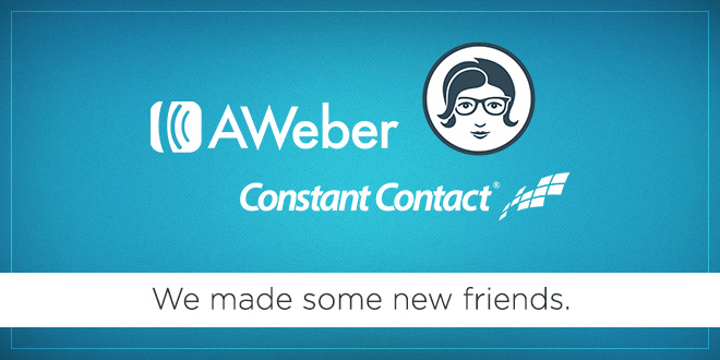 New features: Constant Contact, AWeber, Emma and more