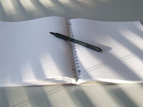 empty-open-notebook