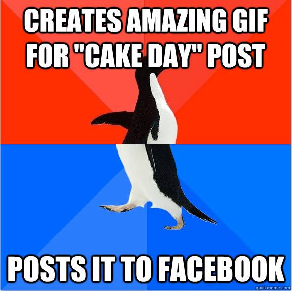 Awesome Socially awkward penguin