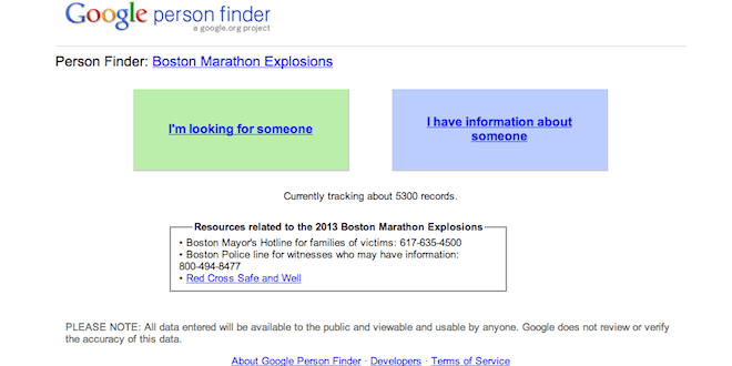 Google-person-finder