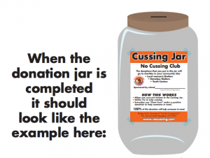 No Cussing Jar label example