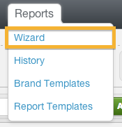 report > wizard