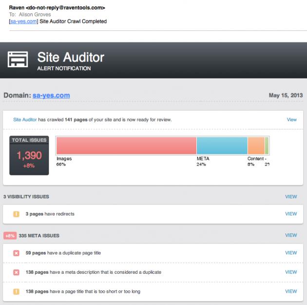 Site-Auditor-alerts