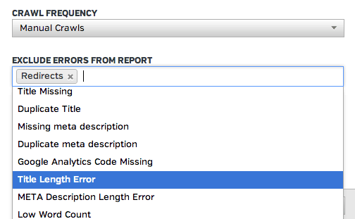 Excluding Errors from report - Screenshot