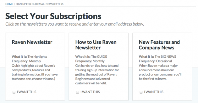 raven-newsletters