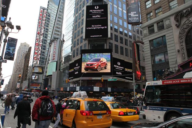 PR Newswire Billboard in Times Square