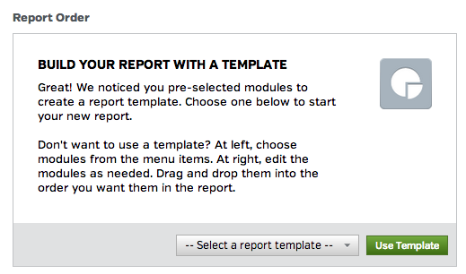 Select a Report Template